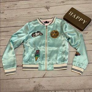 Girls fashion jacket size medium, 10